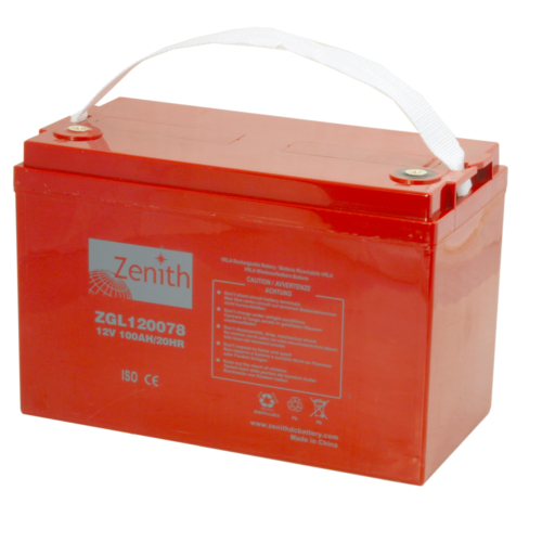 Zenith ZGL120078 12V C20/100Ah C5/85 M6 AGM akkumulátor