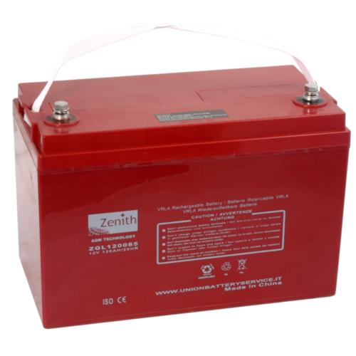 Zenith ZGL120085 12V C20/120Ah C5/102 M8 AGM akkumulátor