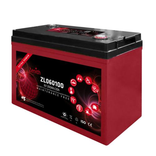 Zenith ZL060100 6V C20/200Ah C5/170 M8 AGM Deep-Cycle akkumulátor