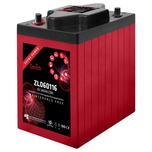 Zenith ZL060116 6V C20/245Ah C5/200 AP AGM Deep-Cycle akkumulátor