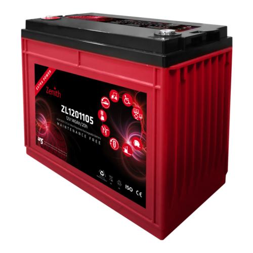 Zenith ZL1201105 12V C20/140Ah C5/115 M8 AGM Deep-Cycle akkumulátor