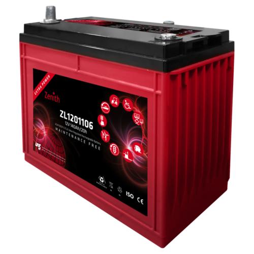 Zenith ZL1201106 12V C20/140Ah C5/115 AP AGM Deep-Cycle akkumulátor