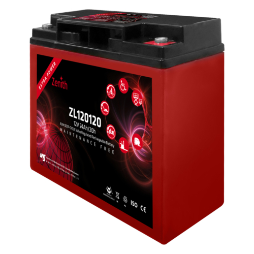 Zenith ZL120120 12V C20/24Ah C5/18 M5 AGM Deep-Cycle akkumulátor