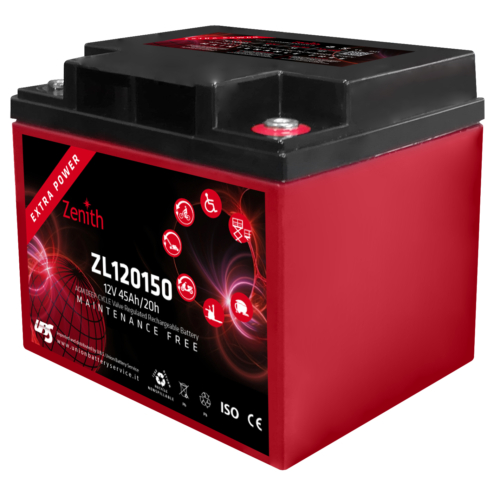 Zenith ZL120150 12V C20/45Ah C5/35 M6 AGM Deep-Cycle akkumulátor