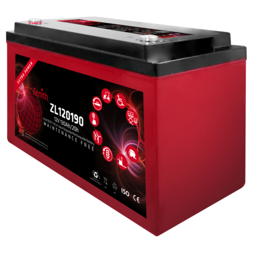Zenith ZL120190 12V C20/130Ah C5/105 M8 AGM Deep-Cycle akkumulátor