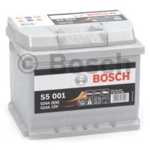 Bosch S5 001 52Ah 520A akkumulátor (0092S50010)