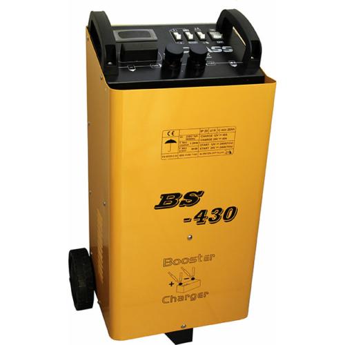 BS430 12V-24V 60A akkumulátor töltő 400A bikázó