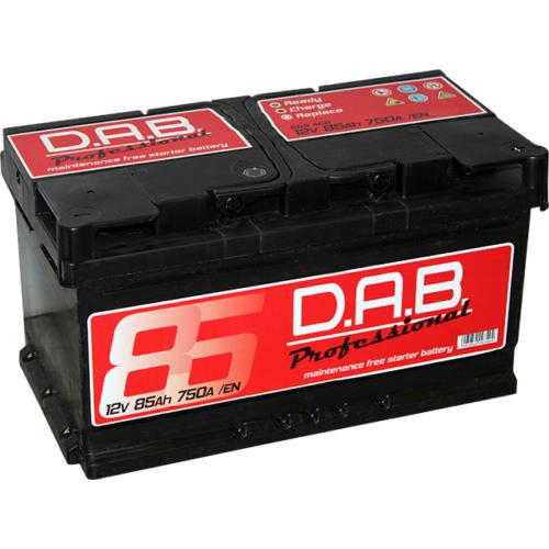 DAB Professional 12V 85Ah 750A jobb+ akkumulátor
