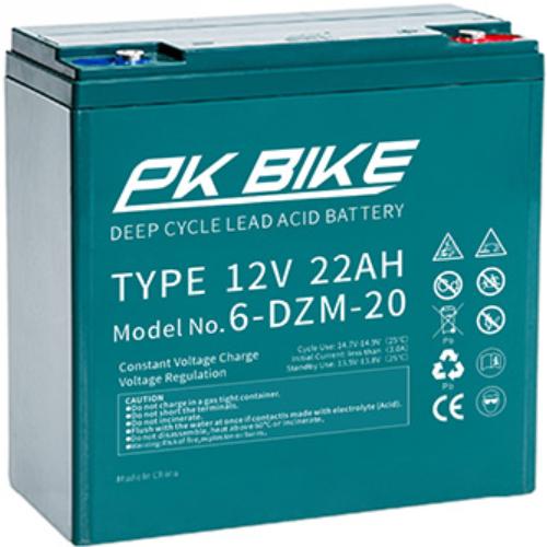 PK Bike Deep Cycle 12V 22Ah VRLA elektromos kerékpár akkumulátor