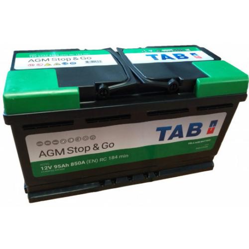 TAB Stop & Go AGM 12V 95Ah 850A jobb+ akkumulátor